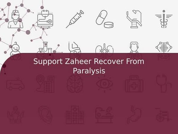 Support Zaheer Recover From Paralysis