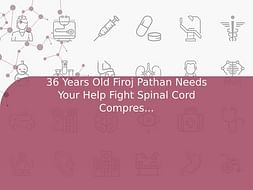 36 Years Old Firoj Pathan Needs Your Help Fight Spinal Cord Compression