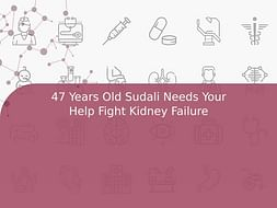 47 Years Old Sudali Needs Your Help Fight Kidney Failure
