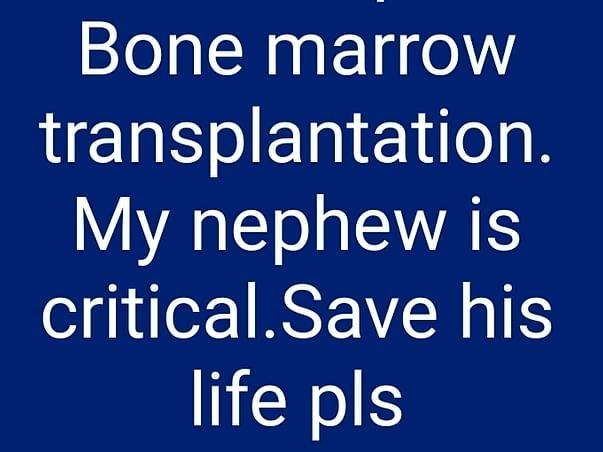 My nephew need urgent support in fighting aplastic anemia,encephalitis