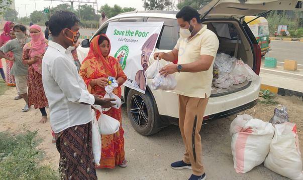Distribution of Ration, Vegetables, Hygiene Kit & other Essentials.