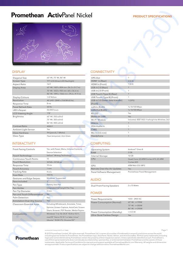 Smart Digital Board Specification