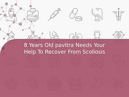 8 Years Old pavitra Needs Your Help To Recover From Scoliosis
