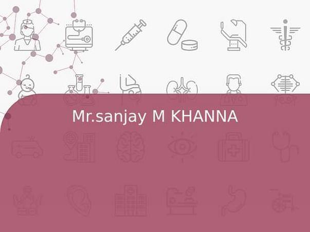 Mr.sanjay M KHANNA
