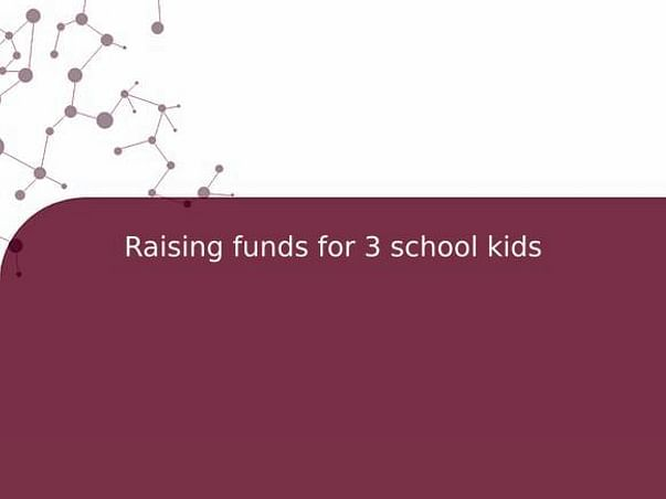 Raising funds for 3 school kids