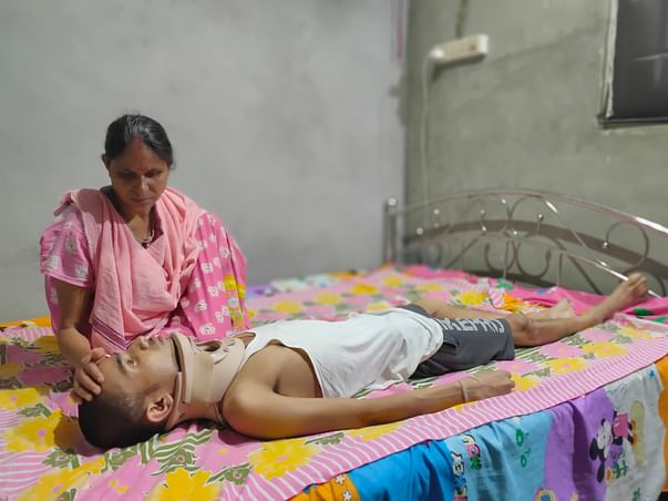 25 years Old  Pranjal Baishya Needs Your Help Fight Accident Injuries, (Multiple Injuries)