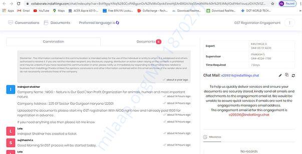 GST Registration Applied For NIOG