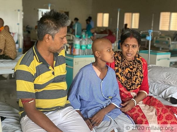A Painful Cancerous Tumour Has Kept This Boy Awake For Weeks