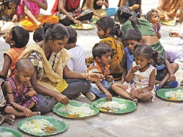 Distributing Food To Poor People Due To COVID-19