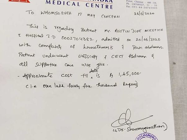 For treatment upper GI bleed please 🙏 help us