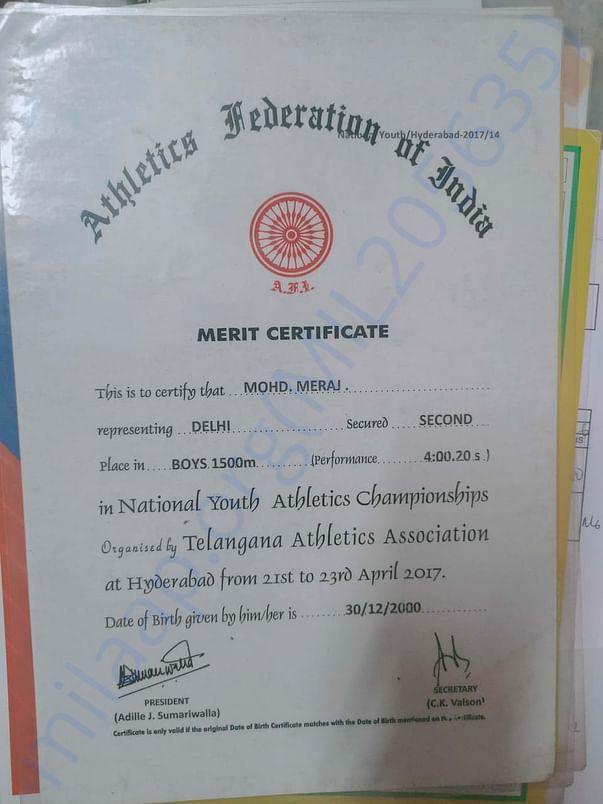 National youth athletics championship