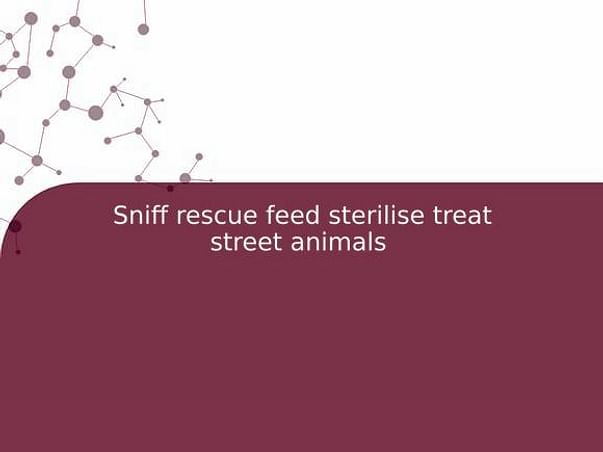 Sniff rescue feed sterilise treat street animals