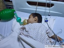 14 days old yuvraj needs your help fight lung disease