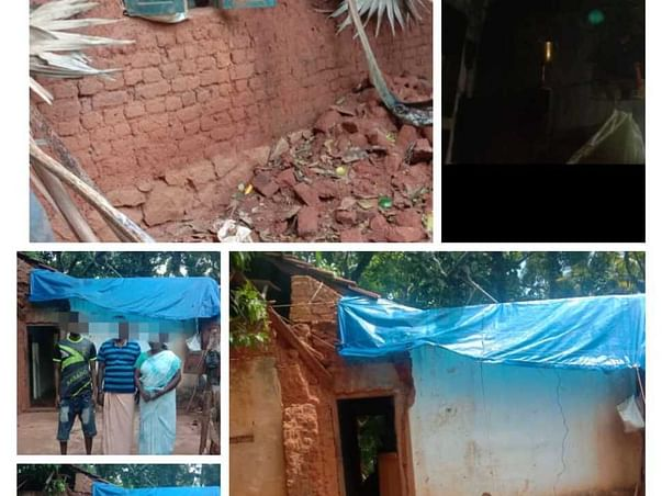 Help Abin build a roof for his house to avoid flooding