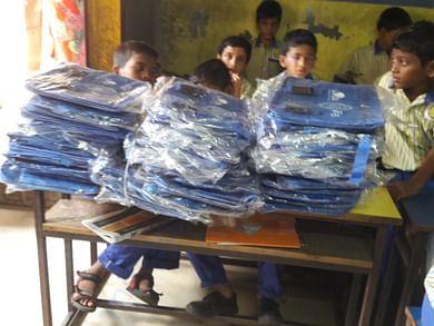 distribution of school bags