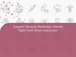 Support Manjula Madhukar Shinde Fight From Brain aneurysm
