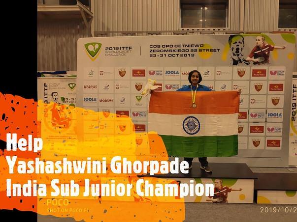 Help Yashashwini Ghorpade, India Sub Junior Champion