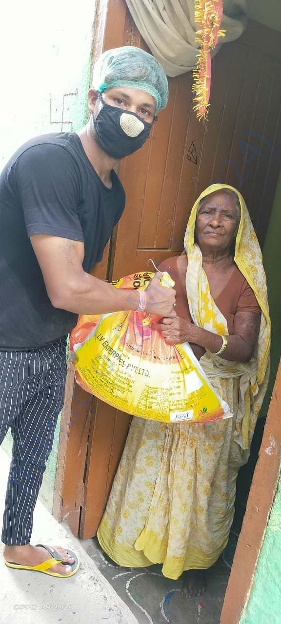 Helping old aged ladies on priority