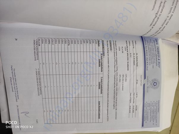 Leukemia Test Report