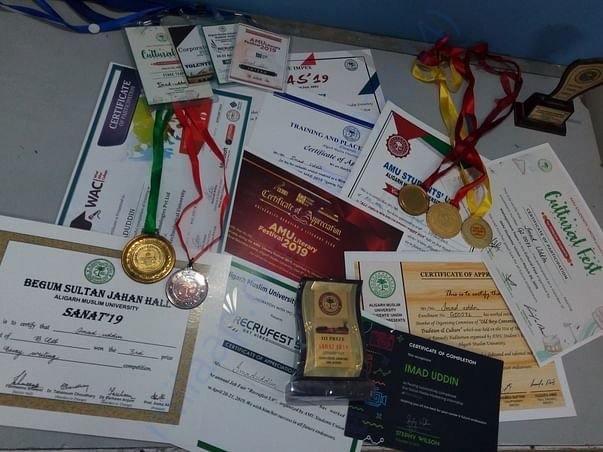 My awards in my first year of graduation