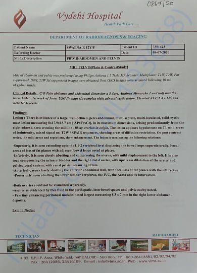 Swapna MRI Report