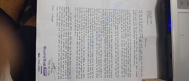 this is the scanned copy of notice she recieved !