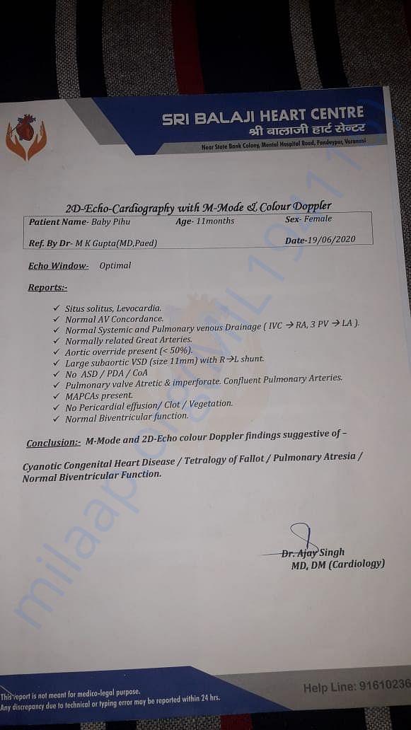 Shri Balaji Heart Center 2 D ECO 19 June 2020
