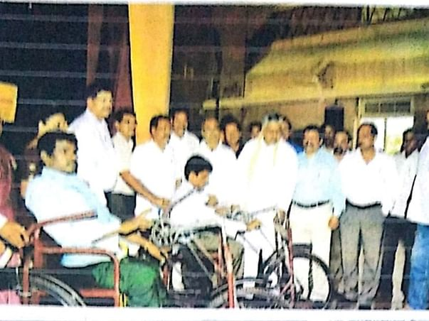 Distribution of Ration Kits and essential equipment to the Disabled