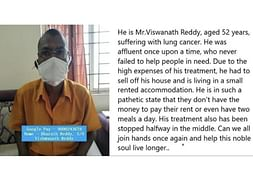 Vishwanatha Reddy needs your help fight  cancer