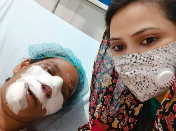 Help putta.Srilatha for multiple surgeries on face