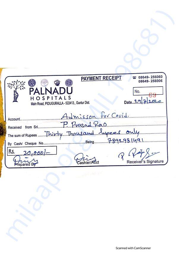 PALNADU HOSPITAL'S 30,000 BILL
