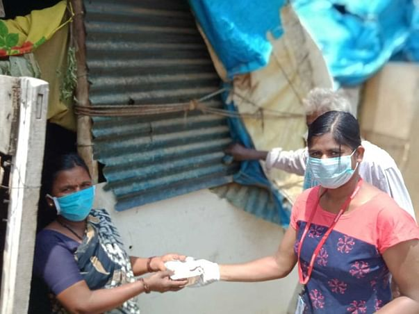 Relief for Poor ration, Food and donate sanitizers