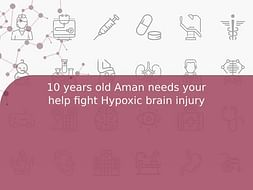 10 years old Aman needs your help fight Hypoxic brain injury