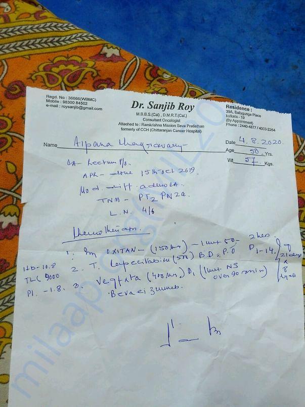 Prescription of Chemotherapy dose