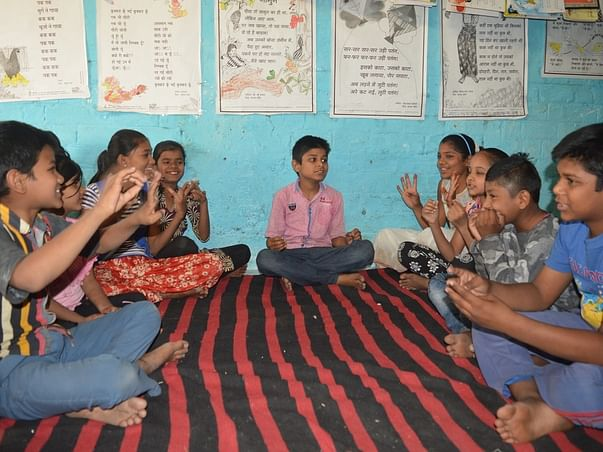 To create a reading atmosphere by Eklavya Foundation