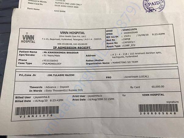 Hospital bills