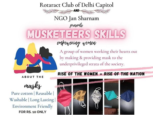 Help Jan Sharnam In Providing Masks To The Poor And Needy