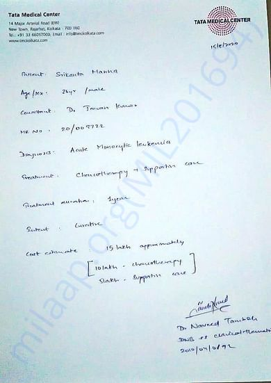 Doctor's Latest Given Report For Srikanta Manna Dada