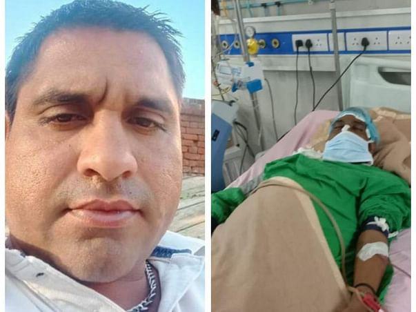 Sandeep a victim of hepatic disease (liver damage) at PGI Chandigarh
