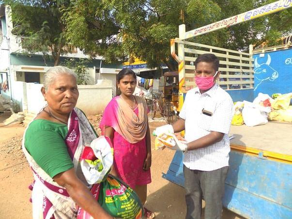 Distribution of Groceries and Sanitation