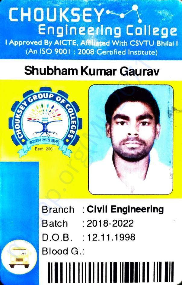 My Admission Card