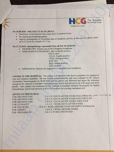 HCG - Latest Hospital Record - 2