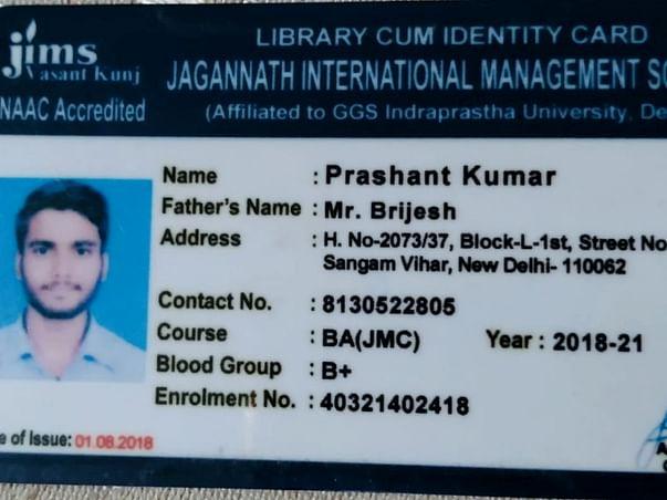 Help Prashant save his education.