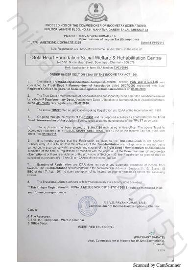 NGO Registration document