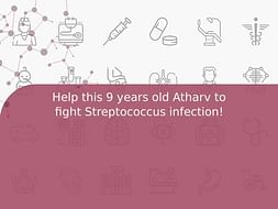 Help this 9 years old Atharv to fight Streptococcus infection!