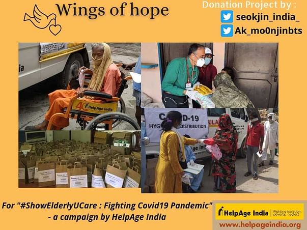 """""""Wings of Hope"""" - Seokjin birthday project to help elderly for covid19"""