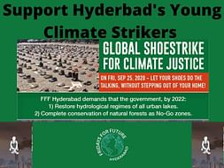 Support Hyderabad's Young Climate Strikers in Global Shoe Strike