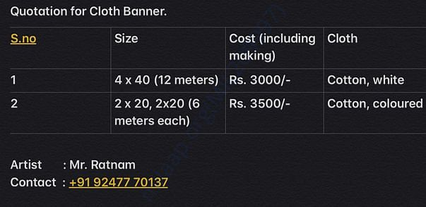 Unbleached Cotton Cloth Banner Cost