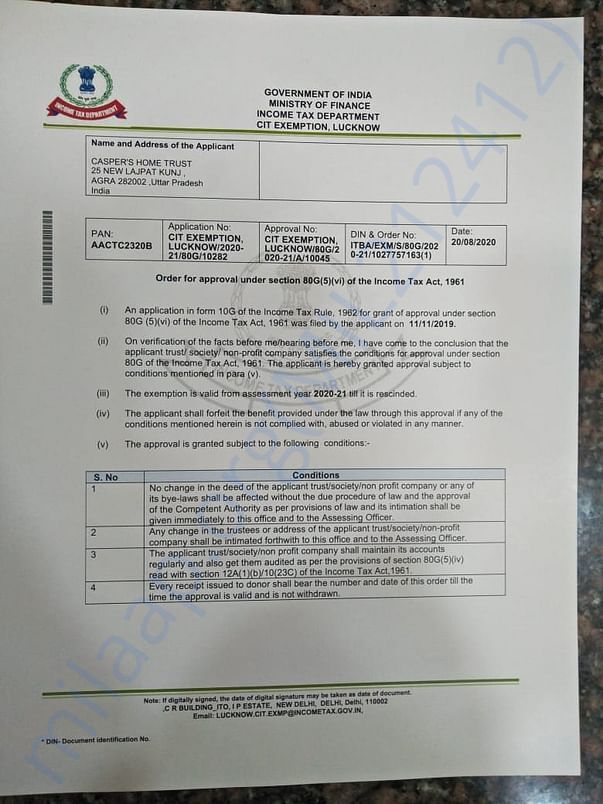 80G certification