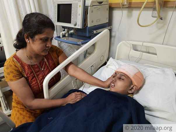 13 years old Omkar needs your help fight subgaleal hematoma
